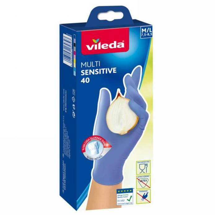 Vileda MultiSensitive rukavice M/L 40ks
