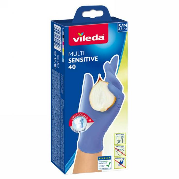 Vileda MultiSensitive rukavice S/M 40ks